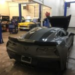 sports car in shop